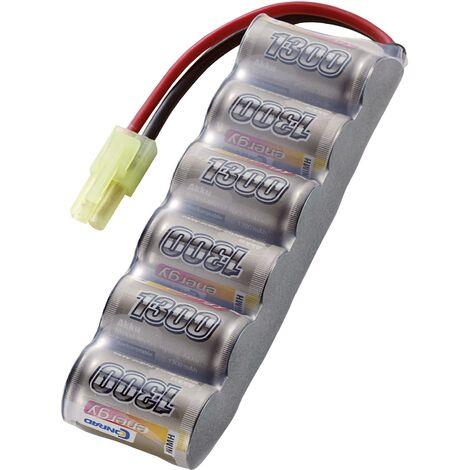 Pack de batterie (NiMh) 7.2 V 1300 mAh Conrad energy 206629 side by side Mini-Tamiya mâle A78850