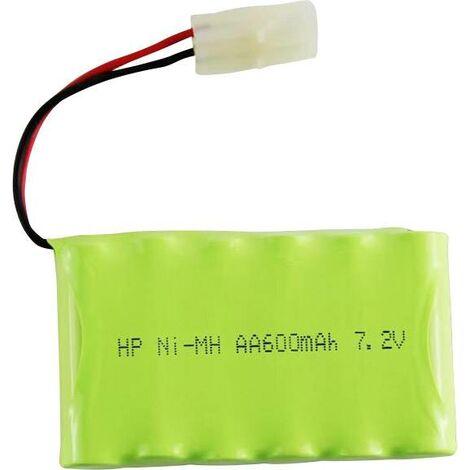 Pack de batterie (NiMh) 7.2 V 600 mAh Conrad energy side by side fiche Tamiya mâle S244981