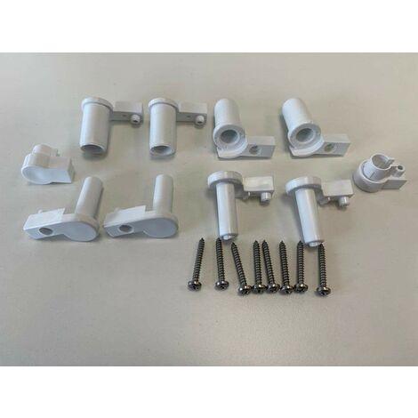 Pack de bisagras y tapones para mamparas de ducha Novellini R04PET | Blanco