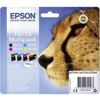 Pack de cartouches Epson T0715 noir, cyan, magenta, jaune C13T07154012