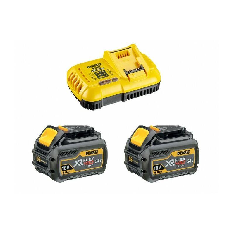 Pack de démarrage DEWALT - FLEXVOLT - 2 batteries 6.0Ah 54V - DCB118T2