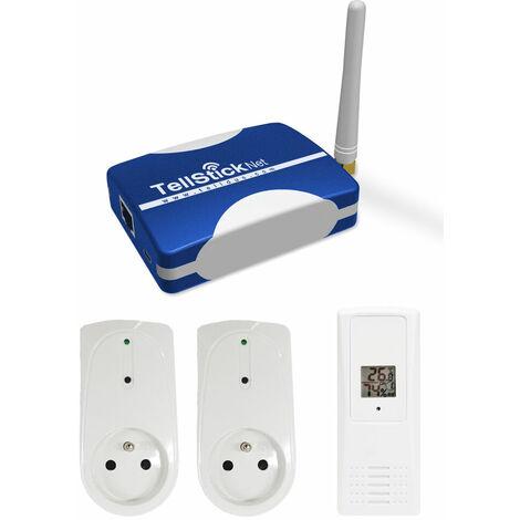 Pack de démarrage TellStick Net avec prises et sonde thermo/hygro - Telldus