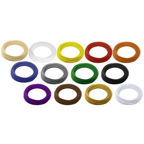Pack de filaments Renkforce PLA 2.85 mm naturel, blanc, jaune, rouge, orange, bleu, gris, vert, noir, pourpre, marron, or, argent 1 kg