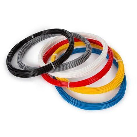 Pack de filaments Velleman PLA175SET6 PLA 1.75 mm noir, blanc, rouge, argent, jaune, bleu clair 1 pc(s)