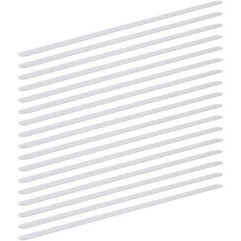 Pack de Pegatinas Antideslizantes para Bañera Largas, Plástico, Transparente, 63 x 3 cm, 17 Unidades