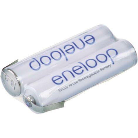 Pack de piles rechargeables 2x LR3 (AAA) NiMH Panasonic 133606 2.4 V 750 mAh