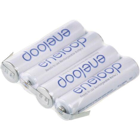 Pack de piles rechargeables 4x LR3 (AAA) NiMH Panasonic 126872 4.8 V 750 mAh