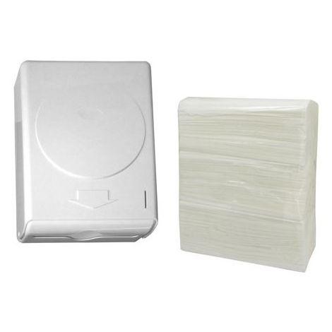 Pack de portarrollos industrial y 3 rollos de papel higiénico industrial