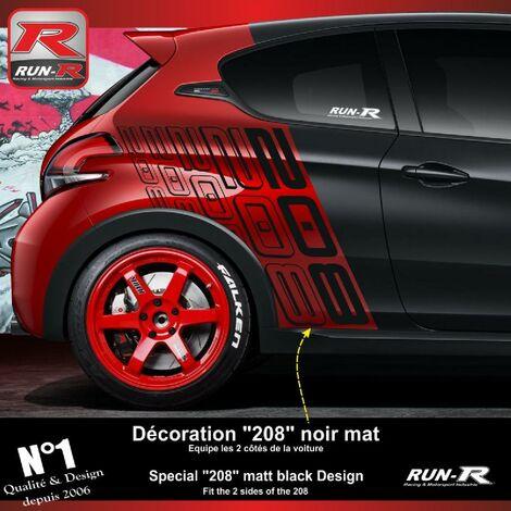 Pack de stickers speciaux pour PEUGEOT 208 GTi Anniversary Run-R Stickers
