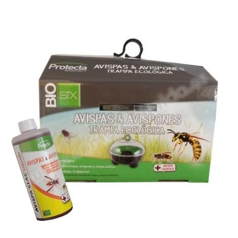 Pack de Trampa Ecológica Avispas y Avispones AVISPA'CLAC + Líquido Atrayente