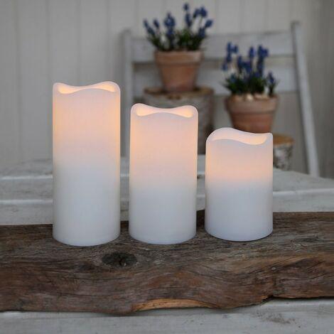 Pack de tres velas blancas a control remoto
