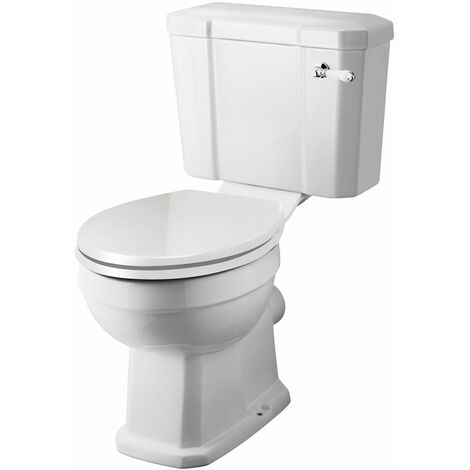 Pack de WC Completo con Inodoro Cisterna con Salida Horizontal y Tapa Tradicional