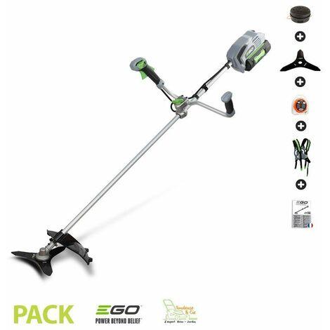 Pack débroussailleuse électrique sans fil Ego Power+ BC3800E batterie 56v chargeur et accessoires - Gris