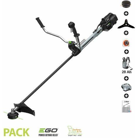 Pack débroussailleuse PRO batterie dorsale 28Ah arbre carbone Egopower BCX3800E - Gris