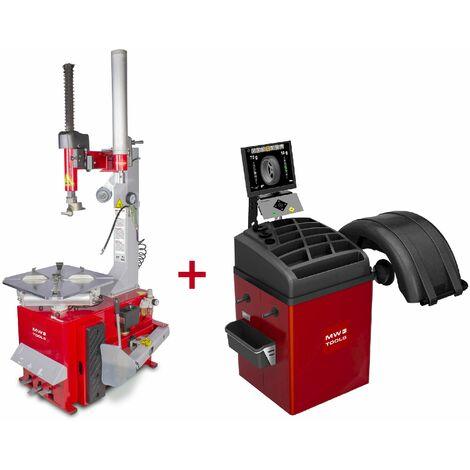 Pack démonte-pneu BT200 3x380V et équilibreuse de roues BB350 220V MW-Tools BT200 SET3