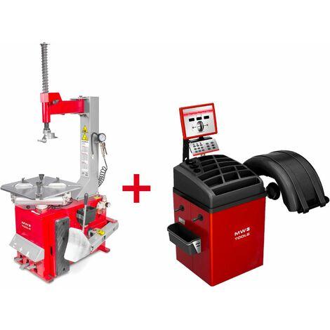 Pack démonte-pneu et équilibreuse de roues BT100+BB300 MW-Tools BT100 SET3