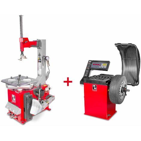 Pack démonte-pneu et équilibreuse de roues BT100M+BB200 MW-Tools SET BT100M + BB200
