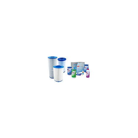 Pack d'entretien spa (Filtre + traitement au brome HTH) Filtre spa 60506