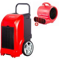 Pack Déshumidificateur mobile industriel 70 l/jour + Ventilateur sécheur 250 w MW-Tools BD70PSETR