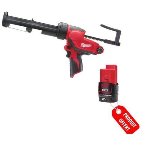 Pack Discount Gun Glue 310ml MILWAUKEE PCG 310C M12 M12 Battery Li-Ion 2.0Ah 4933451057