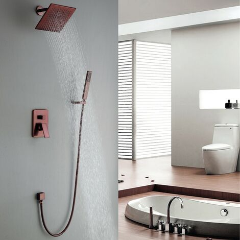 Pack douche à encastré en cuivré au style unique