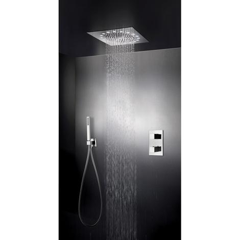 Pack douche thermostatique encastré DYNAMO Plafond avec leds blancs - Cristina Ondyna XQD3690