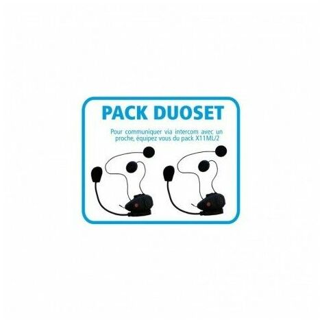 Pack DUOSET 2 Kits mains-libres moto BLUETOOTH avec intercom 434.13