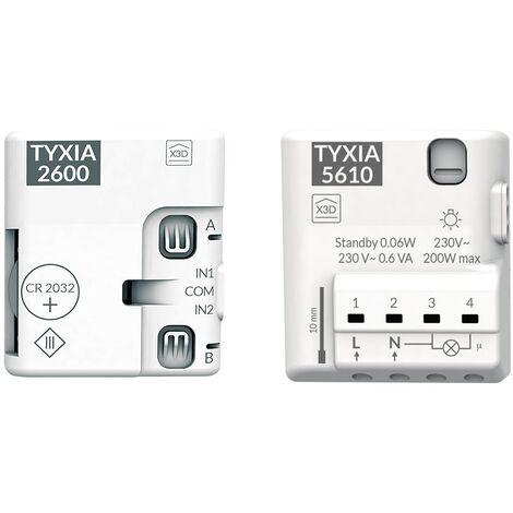 Pack éclairage va-et-vient sans fil (avec neutre) - Tyxia 501 - Delta Dore - Blanc