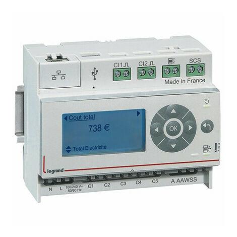 Pack Ecocompteur modulaire IP: écocompteur 412000 + 3 tores 412004 - Legrand