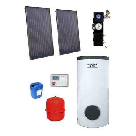 Pack ECS 300l solaire indépendant CESI complet avec ballon + 2 capteurs encastrés et accessoires THE/SOL 300/2 I EMAT 5000-11