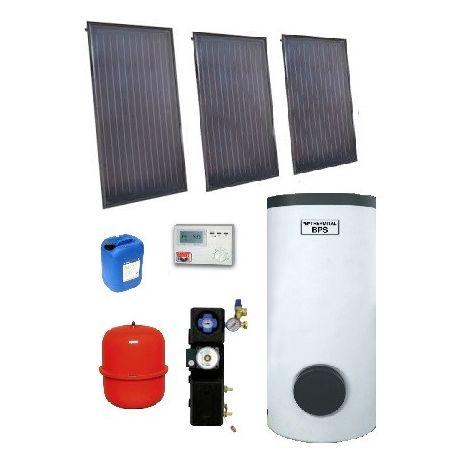 Pack ECS 400l solaire indépendant CESI complet avec ballon + 3 capteurs saillie et accessoires THE/SOL 400/3 0° EMAT 5000-04