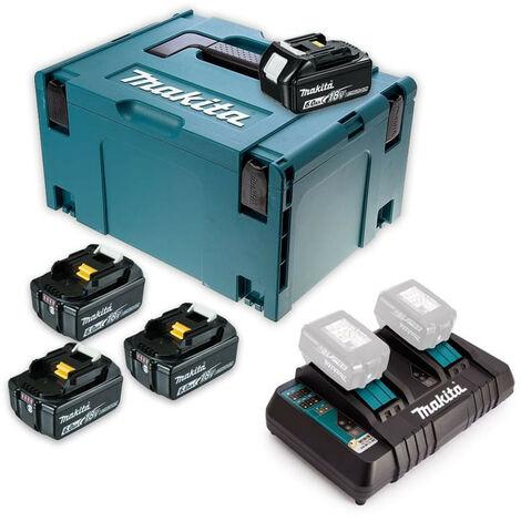 Pack Énergie 18 V Li-Ion (4 x6,0 Ah) avec chargeur double dans MAK-PAC - MAKITA 198091-4
