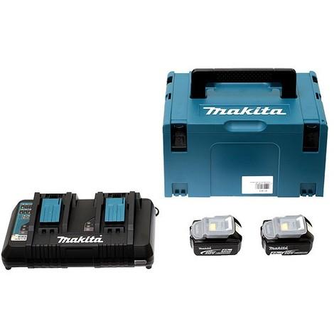 Pack Énergie MAKITA 18V Li-Ion + 2 batteries 18V 4.0Ah + 1 chargeur double avec coffret MAKPAC - 197504-2