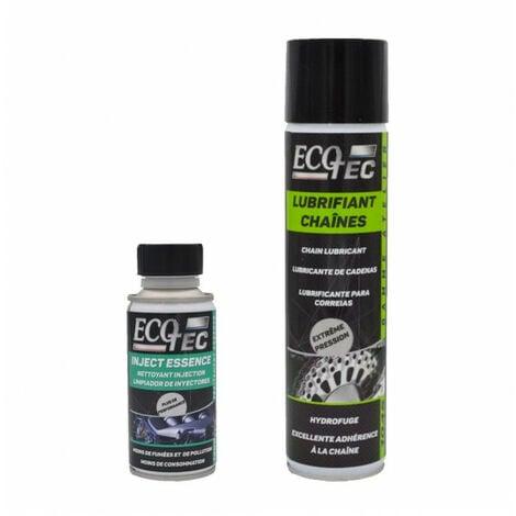 Pack entretien moto (Lubrifiant chaîne moto 400ml + Nettoyant injecteur essence 150ml) - ECOTEC