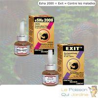 Pack eSHa Exit et 2000 contre les maladies des poissons d' aquarium