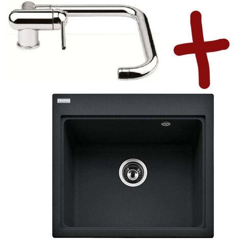 Pack Évier Fiji Fragranit 584x520 mm + mitigeur Window - Platinum - Une cuve - Sous meuble 80 cm - Franke