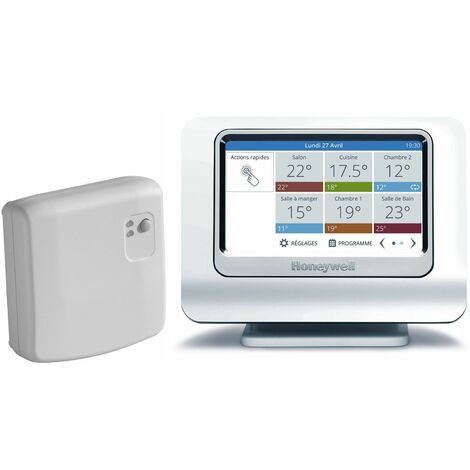 Pack EVOHOME WIFI connecté - Le pack thermostat avec Module et support et Passerelle de communication (version connectée)