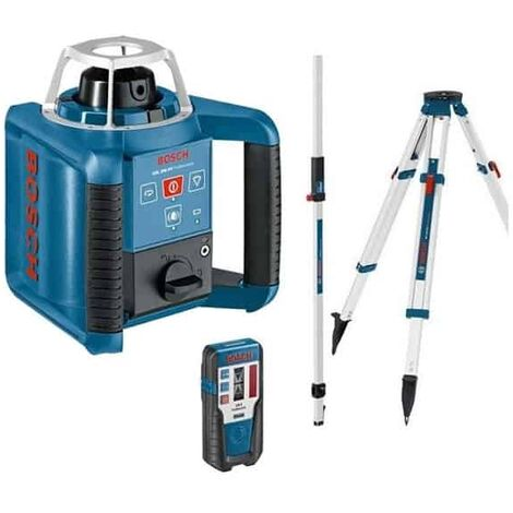 Pack extérieur : Laser rotatif GRL 400 H + Trépied BT 170 + Mire GR 240 BOSCH - 061599403U