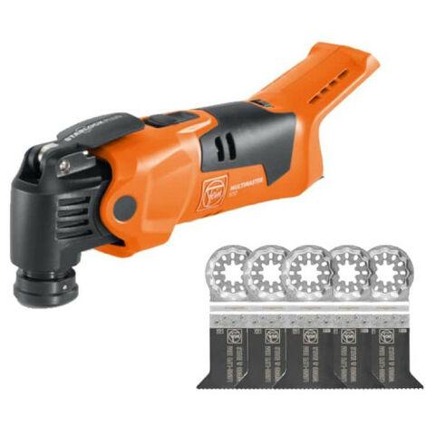 Pack FEIN Machine oscillante - Plus Select - 18V - AMM 500 - 72296862000 - Lot de 5 lames de scie - E-Cut long-life BIM Starlock 50x50mm - 63502221250 - sans batterie ni chargeur