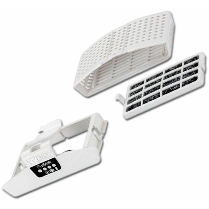 Pack filtre anti odeurs et antibactérien avec support (484000008922, PUR100) Accessoires et entretien WHIRLPOOL, WPRO