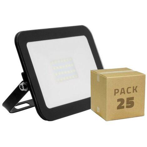 Pack Foco LED Slim Cristal 20W Negro (25 un)