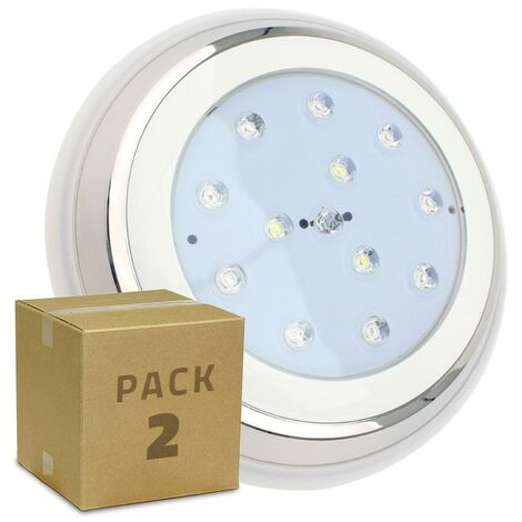 Pack Foco Piscina LED Superficie RGBW 24W (2 Un) RGBW
