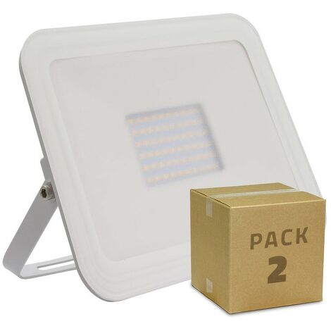 Pack Foco Proyector LED Slim Cristal 50W Blanco (2 un)