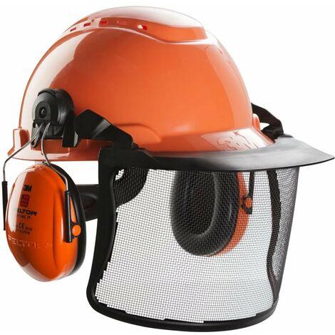 Pack forestier 3M Peltor avec casque anti-bruit - visière et harnais