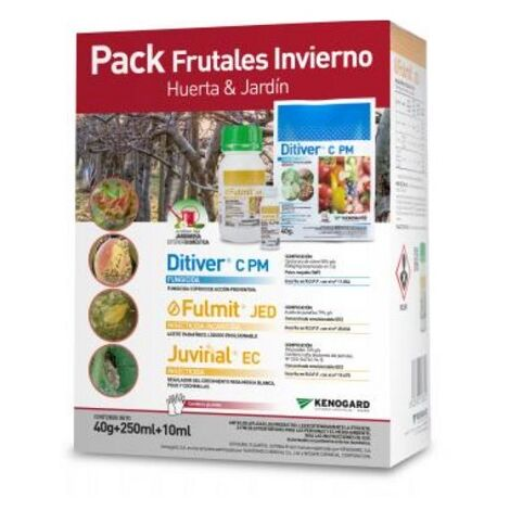Pack Frutales Invierno JED KENOGARD HUERTA Y JARDÍN (Ditiver + Fulmit + Juvinal)