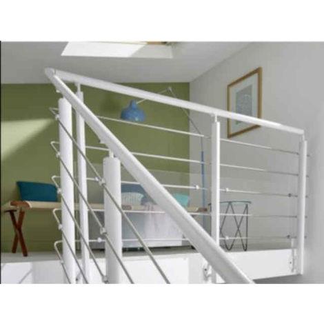 pack garde corps inoline white fixation lat rale l200cm. Black Bedroom Furniture Sets. Home Design Ideas