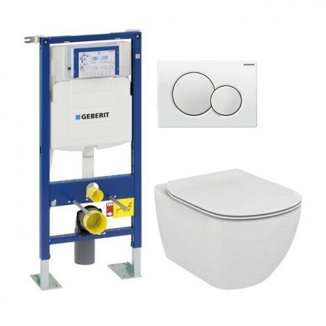 Pack WC Geberit UP320 + Cuvette AquaBlade TESI + Sigma blanche