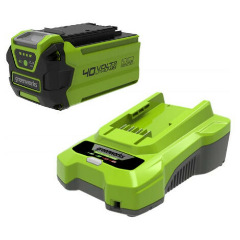 """main image of """"Pack GREENWORKS 40V - 1 batterie 2,0Ah Lithium-ion - 1 Chargeur"""""""