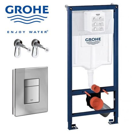 Bati WC Grohe Rapid SL + Plaque + kit fixation