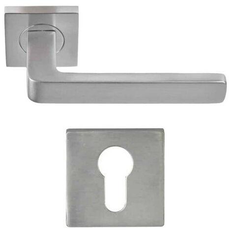 Pack handle and door rose Aluminium - Soho - Nickel plated finish